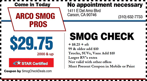 $29.75 Smog Check Coupon